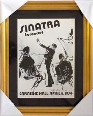 Leroy Neiman Framed Frank Sinatra At Carnegie Hall 18x23 Print