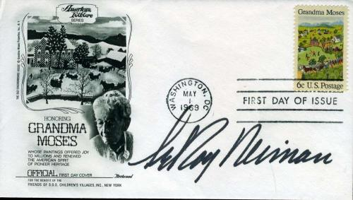 Leroy Neiman Hand Signed Psa/dna Coa 1969 Fdc Authentic Autograph