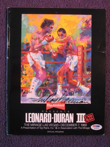 Leroy Neiman Signed Auto Program Leonard vs. Duran III PSA/DNA H03834