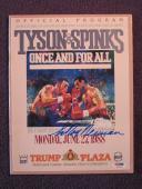 Leroy Neiman Signed Auto Program Tyson vs. Spinks PSA/DNA H03833