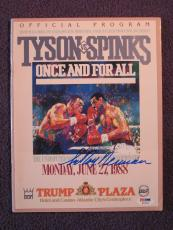 Leroy Neiman Signed Auto Program Tyson vs. Spinks PSA/DNA H03833