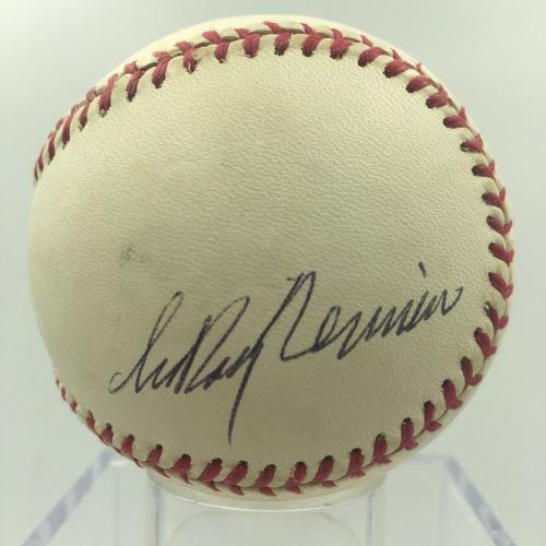 Leroy Neiman Signed Autographed Official American League Baseball PSA DNA COA