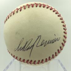 Leroy Neiman Signed Autographed Official American League Baseball PSA DNA COA