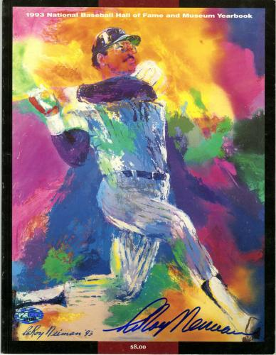 LeRoy Neiman SIGNED Baseball Hall of Fame Mag Playboy Artist PSA/DNA AUTOGRAPHED