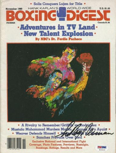 Leroy Neiman Signed Boxing Digest Magazine PSA/DNA # B64482