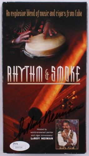 "Leroy Neiman Signed Cover ""rhythm And Smoke"" Cuba Music & Cigars Vhs Video Tape"