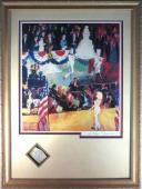 Leroy Neiman Signed Happy Birthday Mr. President w/ Marilyn Monroe Cut PSA/DNA
