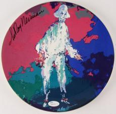 LEROY NEIMAN SIGNED ROYAL DOULTON PIEROTT ART CERAMIC PLATE & STORAGE BOX w/ JSA