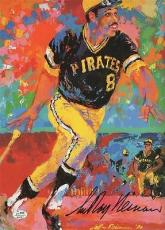 LEROY NEIMAN signed WILLIE STARGELL PICTURE - 9 X 13 - beauty - AUTHENTICATED