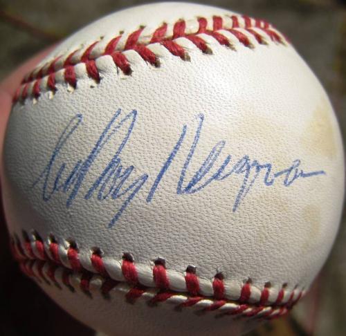 LeRoy Neiman single signed Baseball Ball PSA/DNA auto