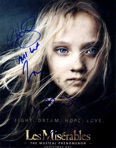 Les Miserables Autographed Signed X5 11x14 Poster Photo UACC RD COA AFTAL