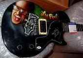 Les Paul Autographed Signed Airbrush Keep Pickin Guitar PSA AFTA AFTAL