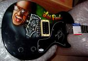 Les Paul Autographed Signed Airbrush Keep Pickin Guitar PSA AFTA AFTAL