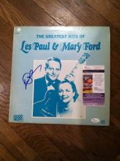 Les Paul Greatest Hits Signed Autographed Record Album Jsa Coa Rare Mary Ford