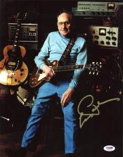 Les Paul Signed 11X14 Photo Auto Graded Gem Mint 10! PSA/DNA #Q45316