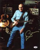 Les Paul Signed 11X14 Photo Auto Graded Gem Mint 10! PSA/DNA #Q45316