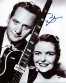 Les Paul Signed 11X14 Photo Auto Graded Perfect 10! PSA/DNA #Q45321