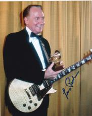 Les Paul Signed 8x10 Photo Authentic Autograph Iconic Guitar Legend Fender Coa