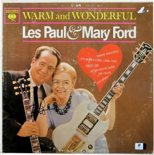 Les Paul Signed Autographed Album Cover Warm and Wonderful JSA U07949