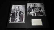 Les Paul Signed Framed 16x20 Photo Set JSA w/ Paul McCartney