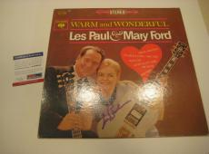 LES PAUL Signed WARM & WONDERFUL Album w/ PSA COA