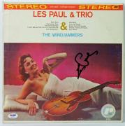Les Paul The Windjammers Signed Album Cover W/ Vinyl Autographed PSA/DNA #W46866