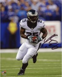 """LeSean McCoy Philadelphia Eagles Autographed 8"""" x 10"""" White Jersey Running Solo Photograph"""