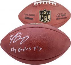 "LeSean McCoy Philadelphia Eagles Autographed Duke Football with ""Fly Eagles Fly"" Inscription"