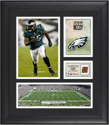 LeSean McCoy Philadelphia Eagles Framed 15'' x 17'' Collage with Game-Used Football - Mounted Memories