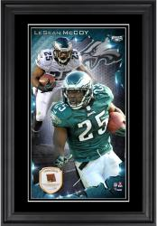 LeSean McCoy Philadelphia Ealges 10'' x 18'' Vertical Framed Photograph with Piece of Game-Used Football - Limited Edition of 250