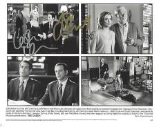 "LESLIE MANN as CORINNE MALONEY and JON STEWART as KEVIN GERRITY in the 1999 Movie ""BIG DADDY"" Signed by Both 10x8 B/W Photo"