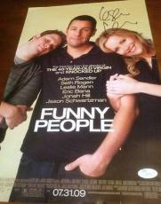 Leslie Mann Jsa Signed Funny People Poster Authentic Autograph