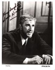 "LESLIE NIELSEN 1969 TV ""TRIAL RUN"" Signed 8x10 B/W Photo"