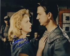 Leslie Nielsen & Anne Francis Signed Autographed Color Forbidden Planet Photo