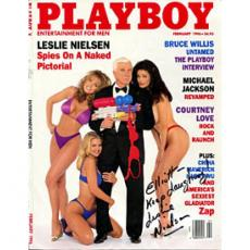 Leslie Nielsen Autographed/Signed Playboy Cover