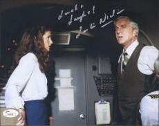 Leslie Nielsen Signed 'airplane' 8x10 Photo Autograph Jsa Coa