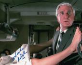 Leslie Nielsen Signed Autographed 8X10 Photo Airplane! Stirrup Passenger w/COA