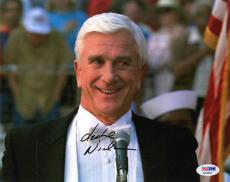 LESLIE NIELSEN SIGNED AUTOGRAPHED 8x10 PHOTO THE NAKED GUN PSA/DNA