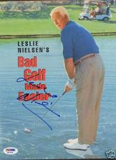 Leslie Nielsen Signed Bad Golf 8x10 Photo PSA/DNA COA