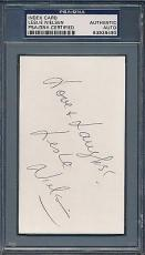 Leslie Nielsen Signed Index Card PSA/DNA Certified Authentic Auto *8490