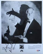Leslie Nielsen Signed  Naked Gun Autographed 8x10 Photo (PSA/DNA) #S80009
