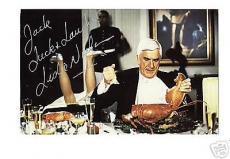 Leslie Nielsen-signed postcard-JSA