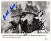 LESLIE NIELSEN+NICOLLETTE SHERIDAN HAND SIGNED 8x10 PHOTO      SPY HARD      JSA