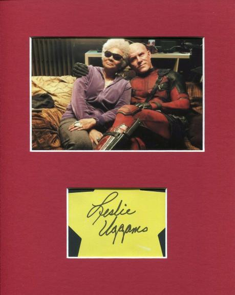 Leslie Uggams Deadpool Blind Al Rare Signed Autograph Photo Display