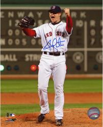 Jon Lester Autographed Red Sox 8x10 Photo