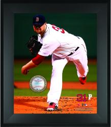"Jon Lester Boston Red Sox Framed 20"" x 24"" Gamebreaker Photograph with Game-Used Ball"