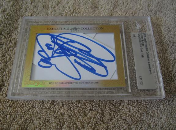 LeVar Burton 2015 Leaf Masterpiece Cut Signature auto card 1/1 Star Trek TNG JSA