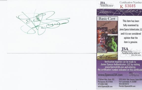 Levar Burton Signed 3x5 Blank Index Card Star Trek; The Next Generation Jsa Coa