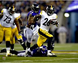 """Le'Veon Bell Pittsburgh Steelers Autographed 16"""" x 20"""" Rushing vs Baltimore Ravens Photograph"""