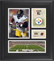 """Le'Veon Bell Pittsburgh Steelers Framed 15"""" x 17"""" Collage with Game-Used Football"""